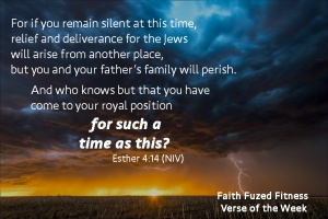 Faith Fuzed Fitness Group and personal training verse of the week