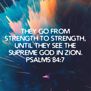 Psalms 84:7 Forge Spin of Amarillo with Faith Fuzed Fitness Group training Devotional