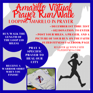 Amarillo Virtual Prayer walk/run